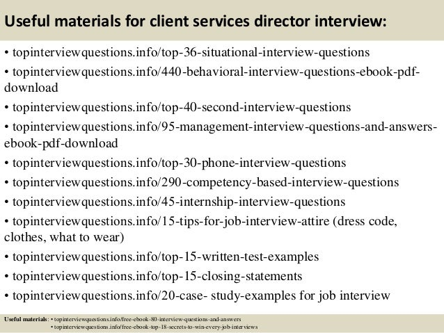 Top 10 Client Services Director Interview Questions And Answers