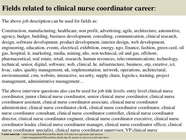 Top 10 clinical nurse coordinator interview questions and answers