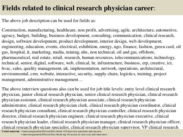 Top  Clinical Research Physician Interview Questions And Answers