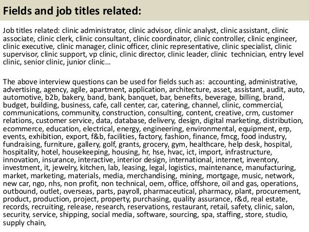 Top 10 Clinic Interview Questions With Answers