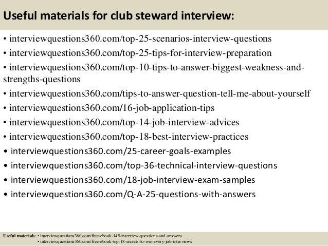 Elegant ... 14. Useful Materials For Club Steward ...