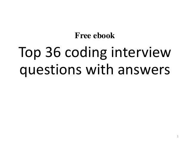 Top 36 coding interview questions with answers pdf free ebook top 36 coding interview questions with answers 1 fandeluxe Choice Image