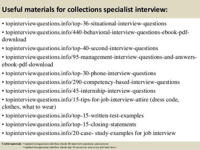 12 useful materials for collections specialist