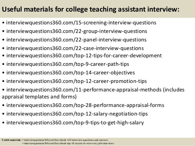 teaching job interview questions and answers