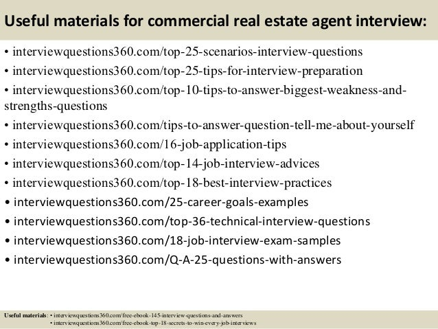 Top 10 commercial real estate agent interview questions and answers