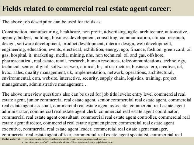 real estate sales job description