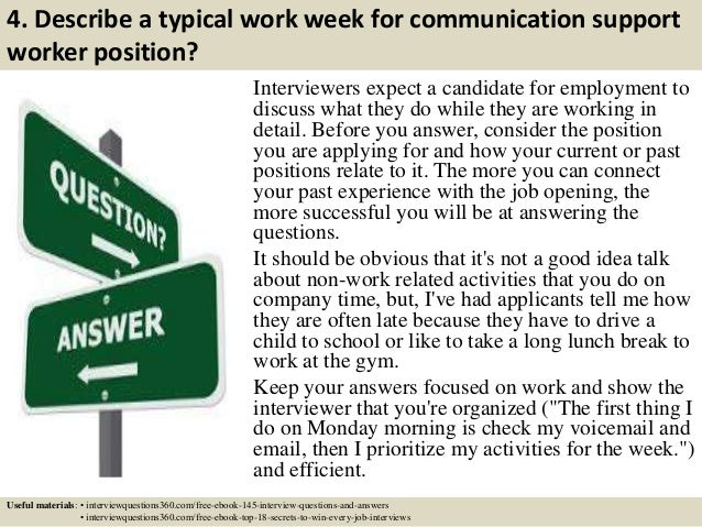 Top 10 communication support worker interview questions and answers