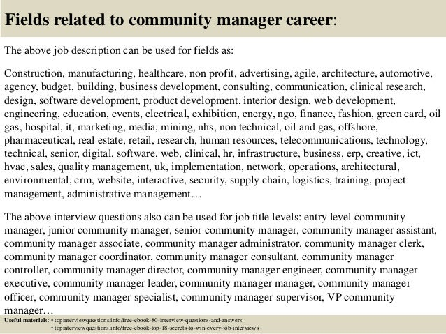 Top 10 community manager interview questions and answers