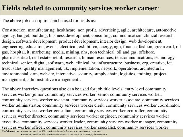Top    community services worker interview questions and answers
