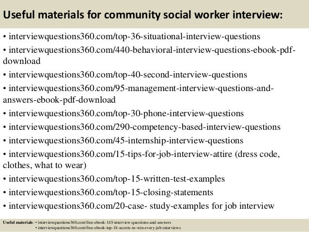 13 useful materials for community social worker interview - Social Work Interview Questions For Social Workers
