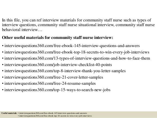 top 10 community staff nurse interview questions and answers - Staff Nurse Interview Questions And Answers