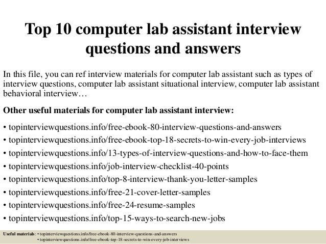 laboratory technician interview questions