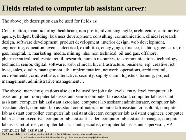 ... 17. Fields Related To Computer Lab Assistant ...