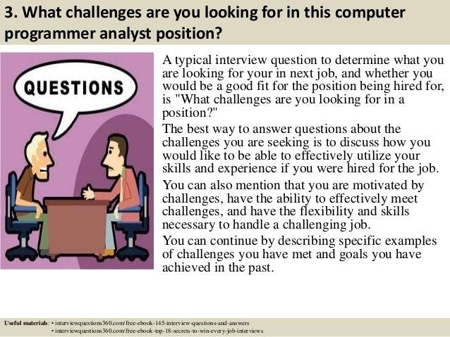 Top 10 computer programmer analyst interview questions and answers – Senior Programmer Job Description