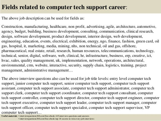 Support Technician Cover Letter