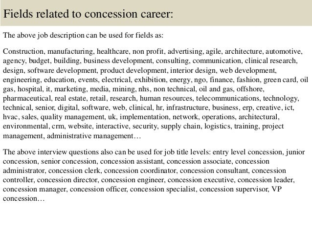 Top 10 Concession Interview Questions And Answers