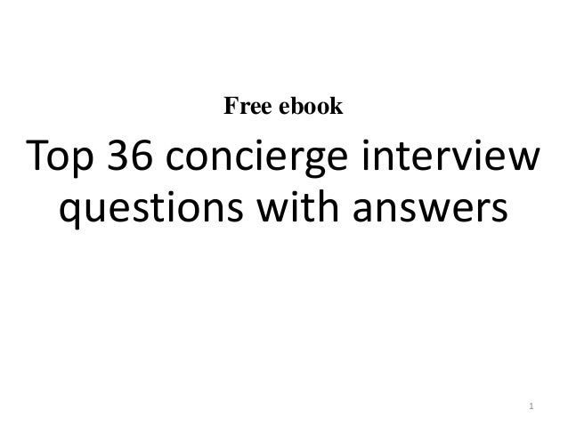 Free ebook Top 36 concierge interview questions with answers 1