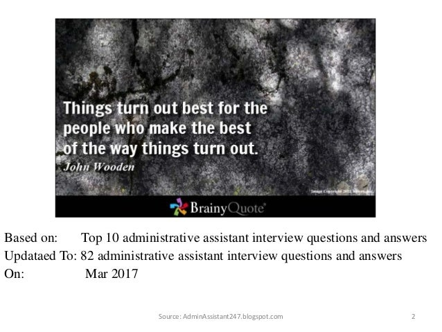 82 1 administrative assistant free ebook source adminassistant247blogspotcom interview questions 2 - Administrative Assistant Interview Questions Answers