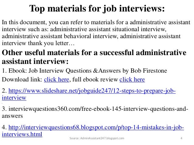 82 administrative assistant interview questions and answers