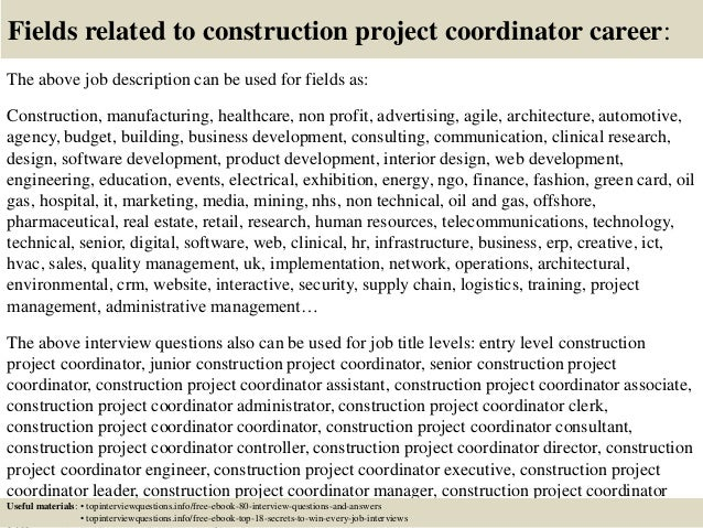 Top 10 Construction Project Coordinator Interview Questions And Answe…