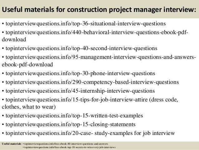 ... 12. Useful Materials For Construction Project Manager ...