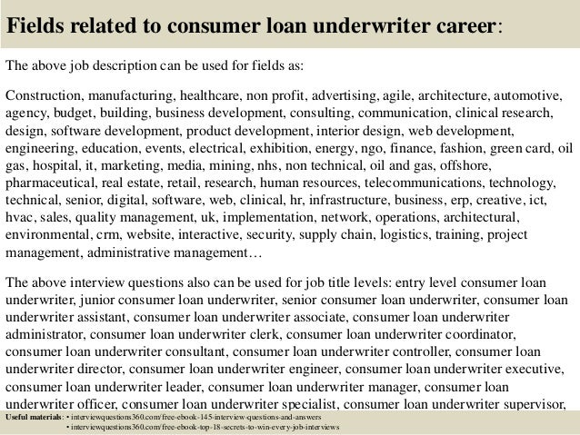 Top 10 consumer loan underwriter interview questions and answers