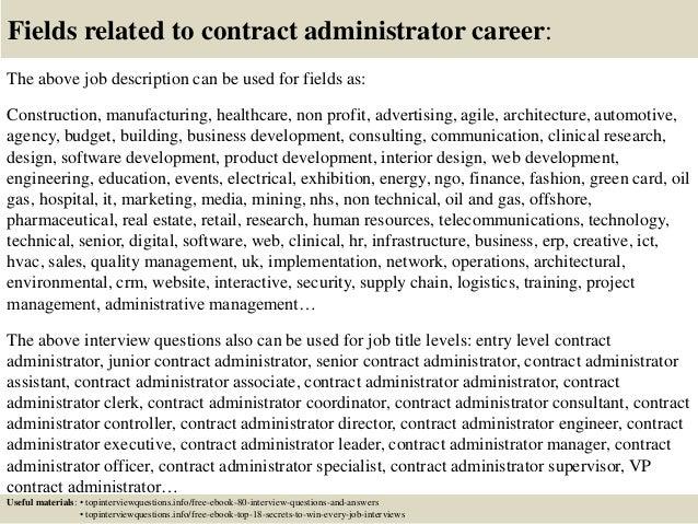 job description. top 10 contract administrator interview questions ...
