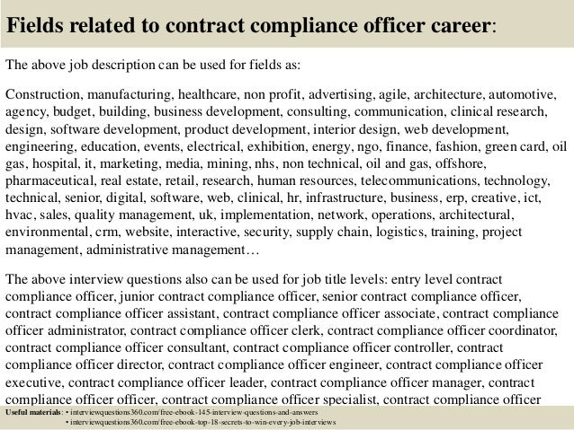 Top 10 Contract Compliance Officer Interview Questions And
