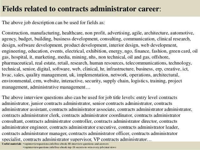 Top 10 contracts administrator interview questions and answers – Contract Administrator Job Description