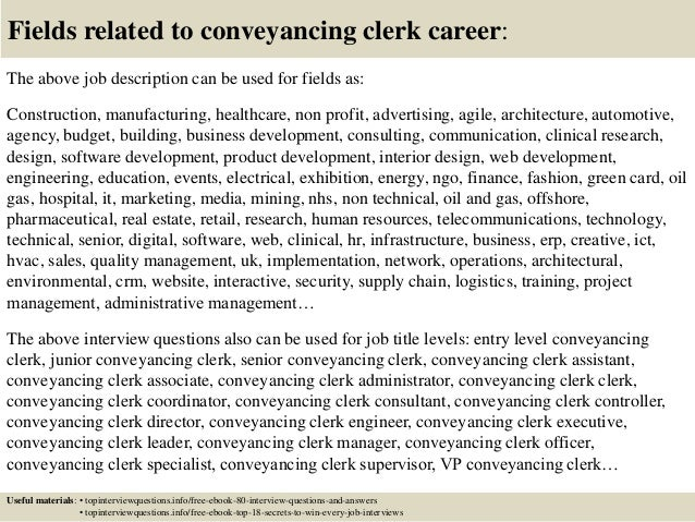 top 10 conveyancing clerk interview questions and answers