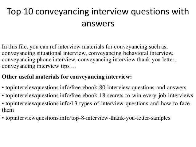 Top 10 conveyancing interview questions with answers top 10 conveyancing interview questions with answers in this file you can ref interview materials solutioingenieria Images