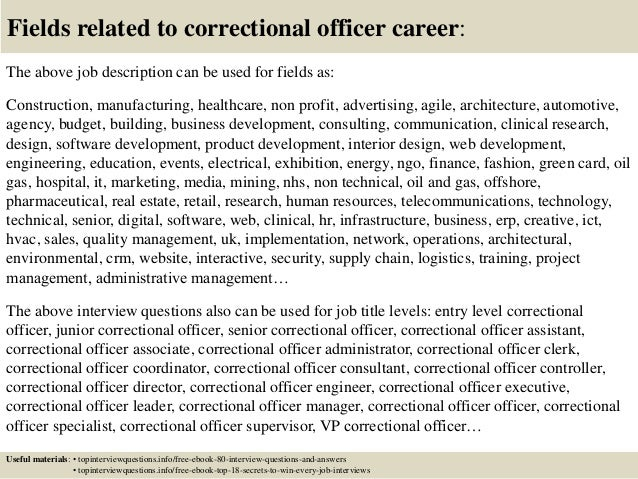 Top  Correctional Officer Interview Questions And Answers