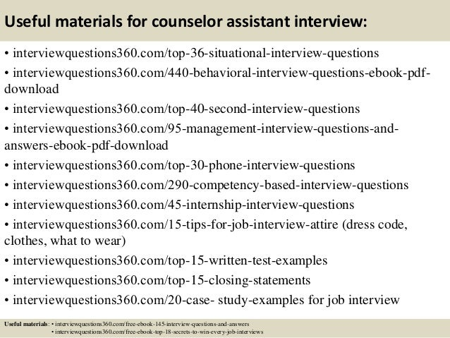 Great Guidance Counselor Interview Questions And Answers