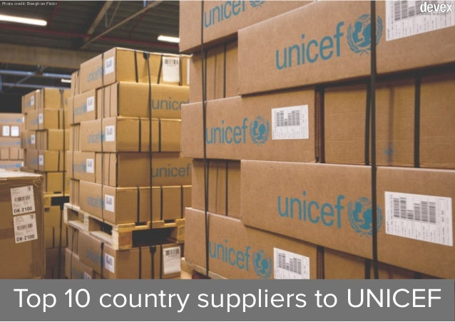 Photo credit: Boegh on Flickr Top 10 country suppliers to UNICEF