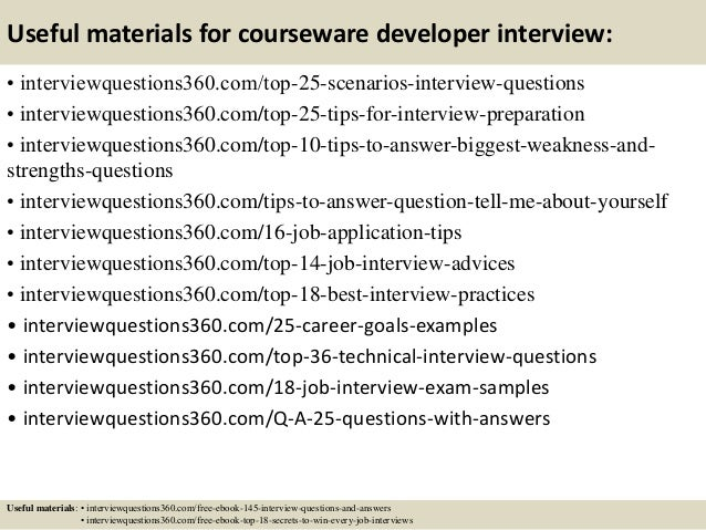 Top 10 courseware developer interview questions and answers