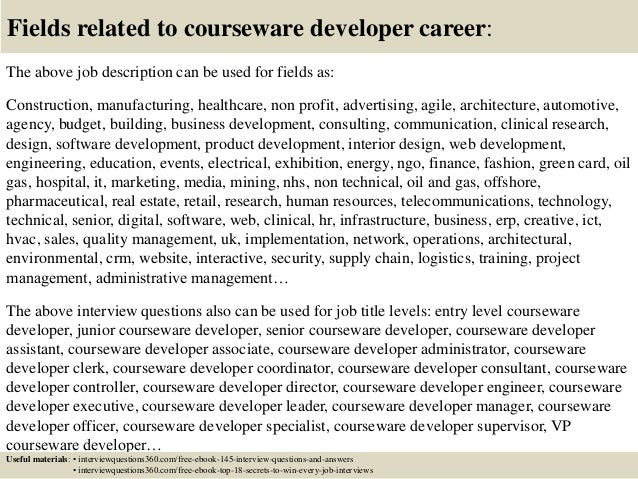 ... 18. Fields Related To Courseware Developer ...