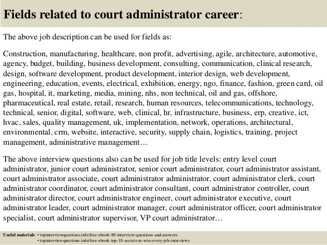 Top 10 court administrator interview questions and answers