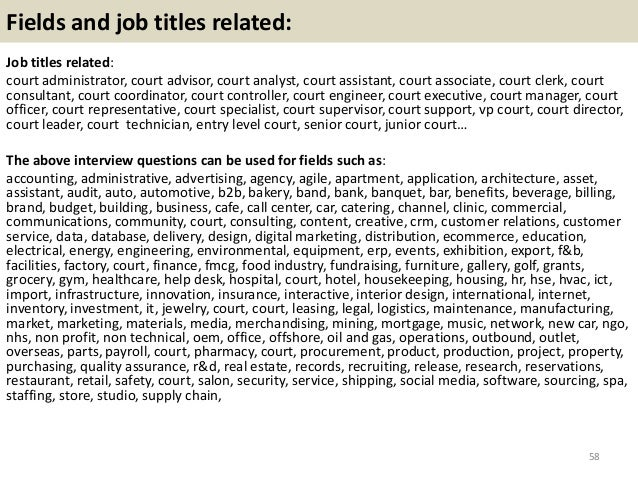 Top 36 Court Interview Questions With Answers Pdf
