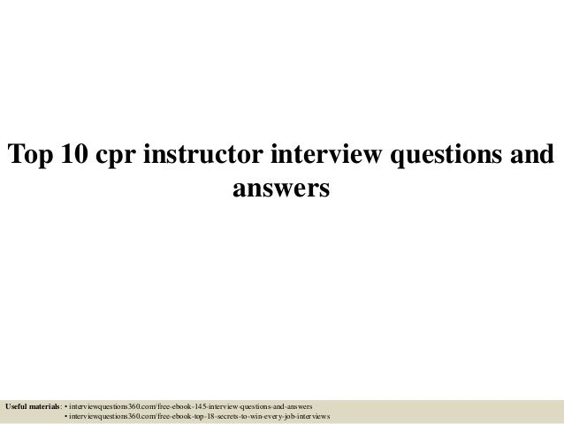 Top 10 cpr instructor interview questions and answers top 10 cpr instructor interview questions and answers useful materials interviewquestions360 fandeluxe Gallery