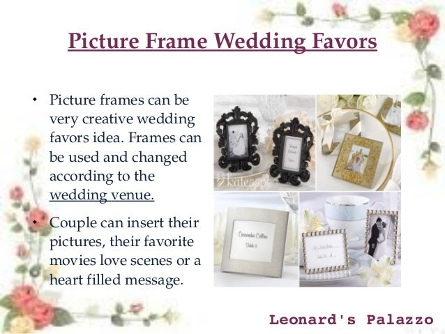 Top 10 creative wedding favors ideas