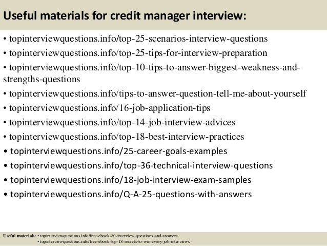 Top 10 credit manager interview questions and answers