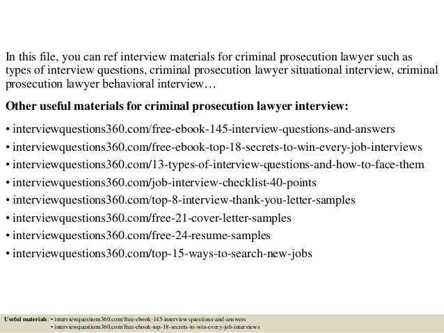 Top 10 criminal prosecution lawyer interview questions and answers