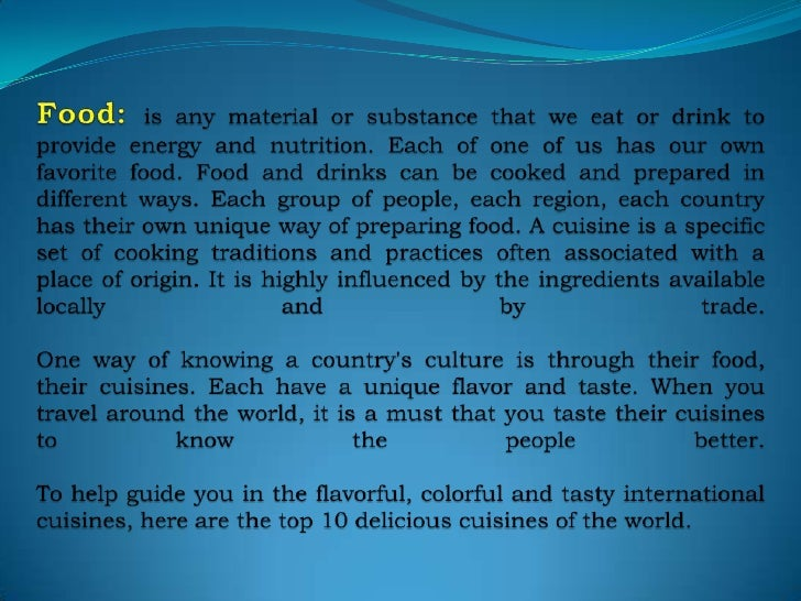 top 10 cuisines of the world