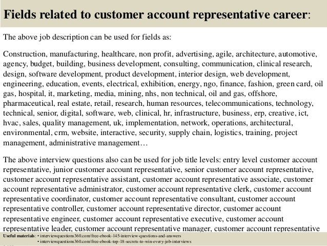 account representative job description - jianbochen.com