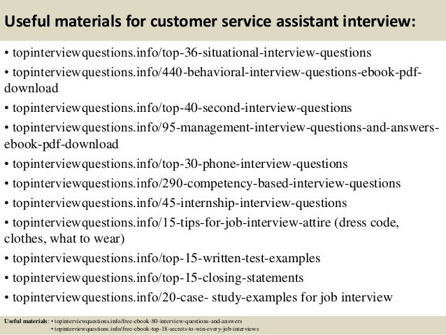 how to answer customer service interview questions