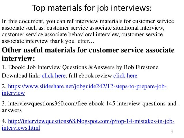 top 52 customer service associate interview questions and