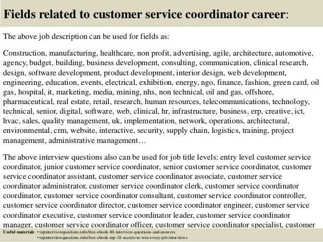 top 10 customer service coordinator interview questions