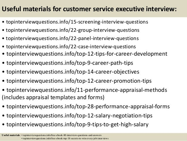 Top 10 customer service executive interview questions and answers