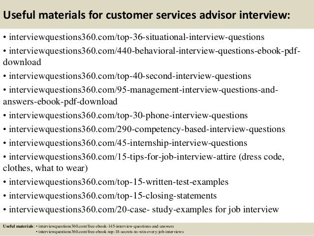 answers to customer service interview questions