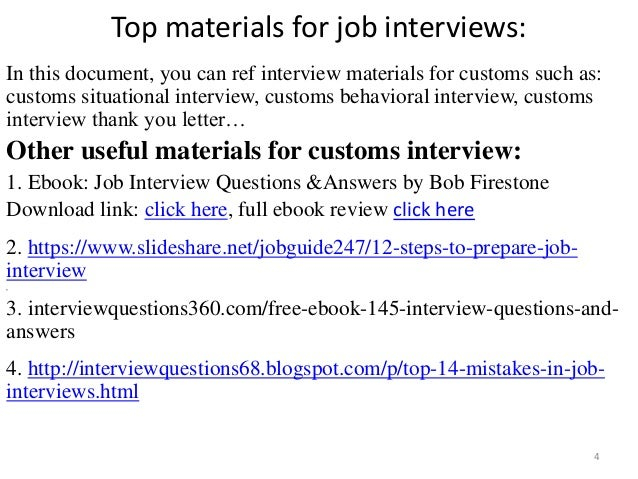 Top 36 customs interview questions with answers pdf